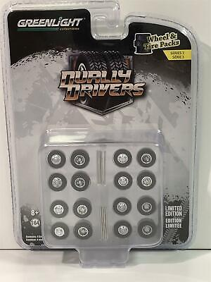 Wheel And Tyres Pack Dually Drivers 1:64 Scale Greenlight 16050A • 11.99£