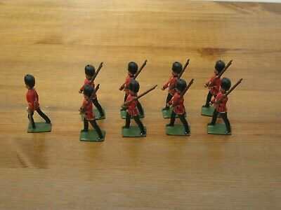 J Hill & Co Lead Soldiers Scots Guards X 9 • 9.99£