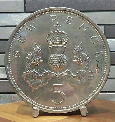 5 Five Pence Penny 1980s English Money Box  • 9.99£