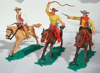 Timpo Cowboys X 3 Mounted Lot 1 • 18£