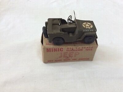 Vintage Boxed Triang Minic Clockwork American Jeep  • 4.99£