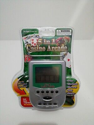 5 In 1 Casino Arcade Handheld Electronic Game (New) By Bhs • 8.99£