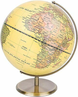 Exerz Antique Desktop Globe Educational Swivel World Globe Dia 30CM 14CM • 15.99£