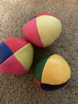 Learn To Juggle Set Of 3 X Coloured Juggling Balls • 2£