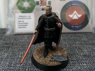 Star Wars Legion Count Dooku (Pro Painted) • 9.99£
