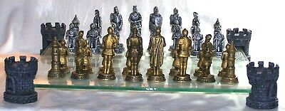 Game Chess Set Full/Complete Medieval - Theme Of Knights And Armor • 100.40£