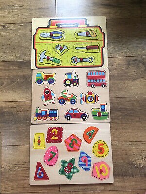 3 Packs Wooden Puzzle Early Learning Baby Kids Educational Toys UK • 11.99£