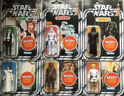 Star Wars Retro Collection. Wave 1 Full Set. New. • 59.99£