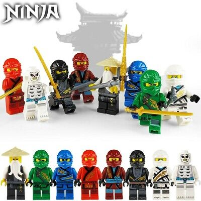 8 PCS Ninjago Set Minifigures Mini Figures Gift Toy • 8.99£
