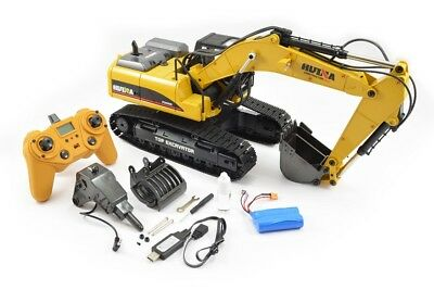Large 1/14th Scale 23 Channel RC Die-Cast Metal Excavator - Smoke, Sound & Light • 454.99£