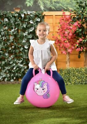 Bouncy Unicorn Monkey Dinosaur Hopper Kids Inflatable Space Hop Bouncer Ball Toy • 13.99£