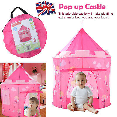 Princess Pop Up Castle Play Tent Girls Playhouse Wendy House Den Kids Fun • 15.39£