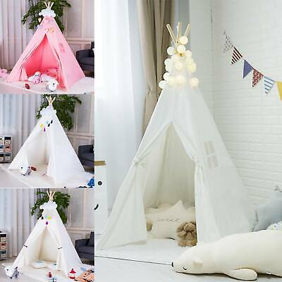 New Kids Teepee Wigwam Childrens Play Tent Childs Garden Or Indoor Toy 5' Canvas • 20.99£