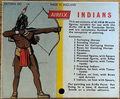 AIRFIX Indian Toy Soldiers ,Boxed ,Vintage , Near Mint In Box With NR • 12.50£