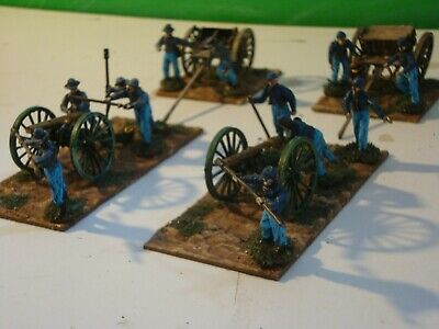 American Civil War Artillery 28mm Perry Miniatures, Cannon And Crew + Limbers • 14.99£