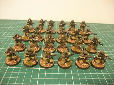 Painted 28mm Atlantic Wargames Future Wars Sci Fi Raumjager Infantry Miniatures • 75£