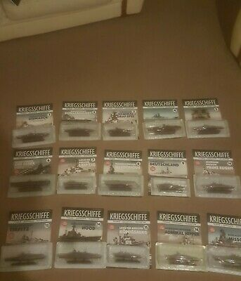 1/1250 Deagostini Warships Collection (Total Of Fifteen) • 80£