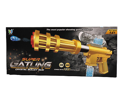 Super Gatling Crystal BB Bullet 20m Shoot Toy Gun With 1000 Bullets Outdoor Game • 11.89£