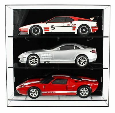 Acrylic Wall Display Case For Three 1:12 Scale Model Cars • 199.99£