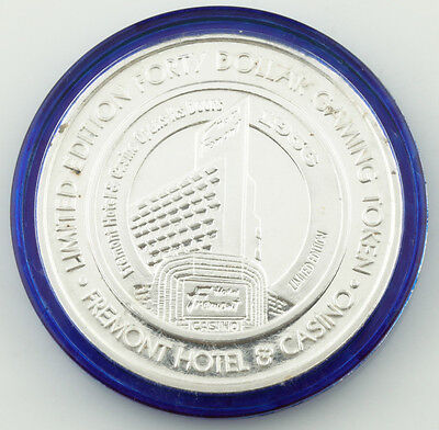 Fremont Hotel Limited Edition 50 Years Colorized Casino Gaming Token, Silver • 62.51£