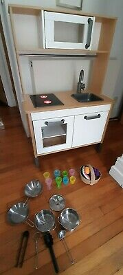 Ikea DUKTIG Kids Wooden Play Kitchen & Accessories  • 55£