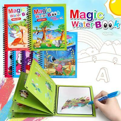Mess Free Painting Magic Water Books Reusable Colouring Book Art Stocking Filler • 4.99£