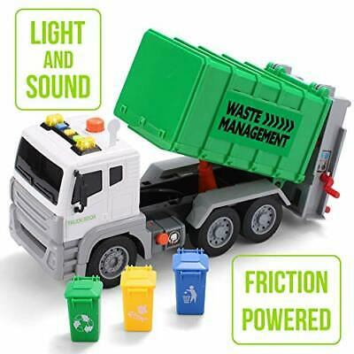 JOYIN 12.5  Garbage Truck Toy Friction-Powered Waste Management Recycling Truck • 24.99£