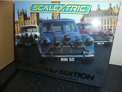 Scalextric C4030a  Diamond Edition  60th Anniversary Mini Triple Pack BNIB • 100£