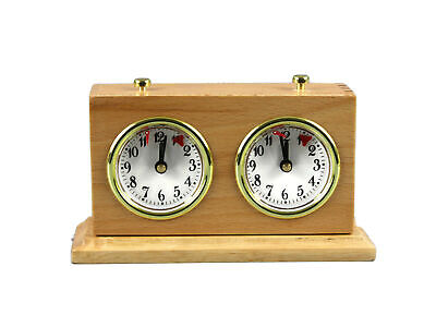 Turnier Chess Clock Analog Charcoal Natural Wood With Stand • 59.99£