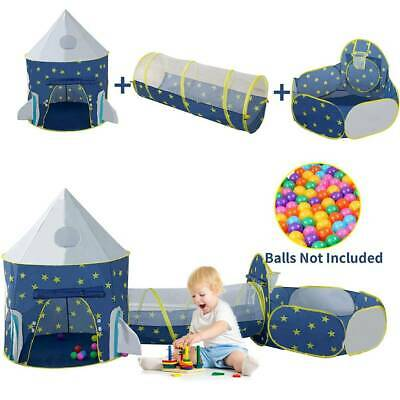 3in1 Play Tent House Tunnel Baby  Ball Pit Pool Indoor Outdoor Playground AA • 20.89£