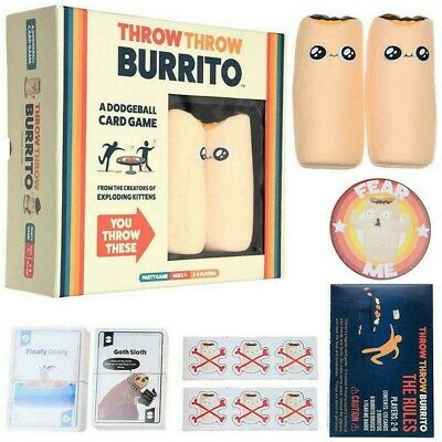 Throw Throw Burrito A Dodge Ball Toy Card Game Original Edition Party Game NEW • 19.29£