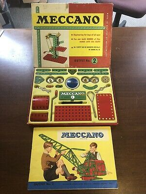 Vintage Meccano Outfit 2, 1961, Guaranteed 100% Complete, Excellent • 32£