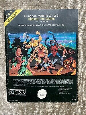 Against The Giants G 1-2-3 - AD&D Tournamnent Module • 18£