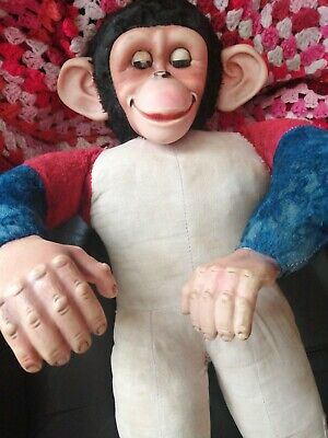 Vintage Original  Possibly Chad Valley Jacko Monkey. 50/60s! • 27£
