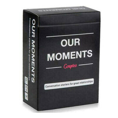Our Moments Couples Board Game 100 Thought Provoking Conversation Starters Lot • 7.13£