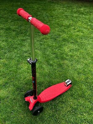 Used Maxi Micro Scooter In Good Condition, Red, For Ages 5-12 • 10£