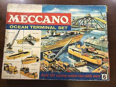 Vintage Meccano Ocean Terminal Set 6, 1967, Guaranteed Complete, In Original Box • 125£