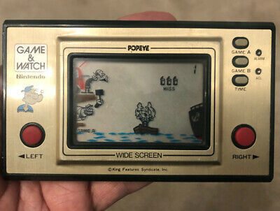 Nintendo Game And Watch Popeye Vintage 1981 LCD Electronic Game - Excellent. • 99£