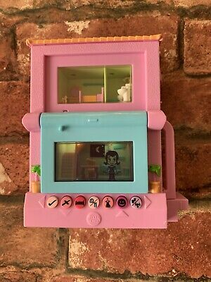 2006 Pixel Chix 2 Storey Pink Beach House Interactive Toy Game  Retro • 14.99£