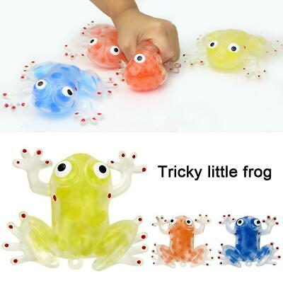 2020 New Children's Anti-stress Toy Vents Tricky Little Squeeze Frog Toy T2Q1 • 1.95£