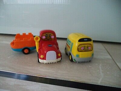 Vtech Toot Toot Drivers - Tractor + Trailer & Bus - Spanish Speaking • 5.99£