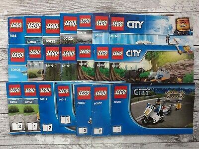 Lego CITY INSTRUCTION MANUALS ONLY..!!! NO BRICKS..!!! • 5.95£