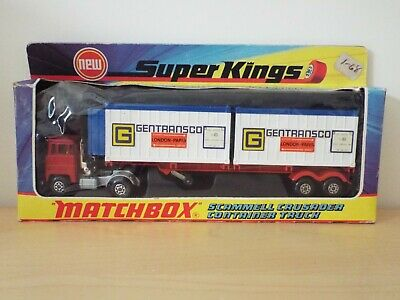 Matchbox Super Kings K17 Scammell Crusader Container Truck 99.99% MINT In B- Box • 39.99£