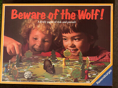 1982 Beware Of The Wolf Board Game. Original Dice & Instructions FREE UK POST • 12.50£