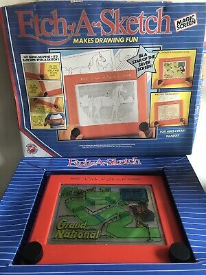 Vintage 1986 Etch A Sketch By Peter Pan Playthings 3 Rare Screens  VGC • 35£