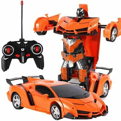 New Transformer RC Robot Car Remote Control 2 IN 1 Kids Boys Toys Xmas Gift Toy • 12.99£