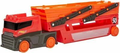 Red Mega Hot Wheels Hauler Truck Holds Up To 50 Cars BRAND NEW  • 12.99£