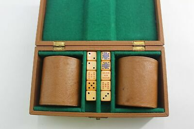 Vintage Poker Dice Set In Box In Good Used Condition ##Bak B125 • 9.99£