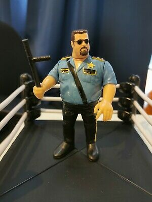 WWF WWE Hasbro Big Boss Man Series 1 Action Figure With Nightstick Accessory • 18.50£