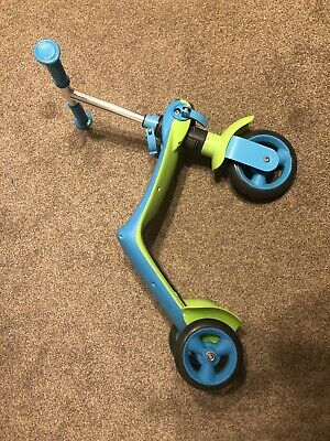 Smoby 2 In 1 Scooter Balance Bike Child Kid Toddler Blue Green Boy • 15£